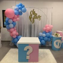 Installation GENDER REVEAL BABY SHOWER Chez vous ! by Wish Events