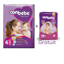 Canbebe Couches MAXI Pack l'Affaire, Taille 4, 7-17 Kg, 60 pièces + 1 Paquet Standard OFFERT !