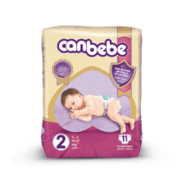 Canbebe Couches MINI Standard , Taille 2, 3-6 Kg, 11 pièces