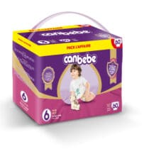 Canbebe Couches XL Pack l'Affaire, Taille 6, 14-25 Kg, 60 pièces